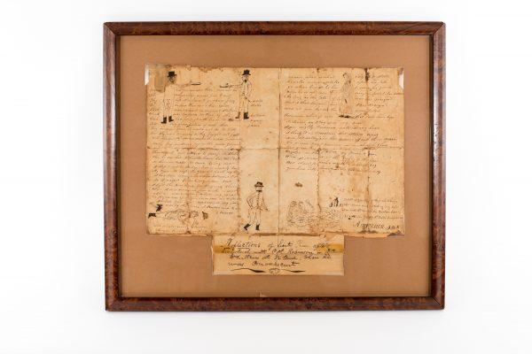 1812 duel document authentic antique old original Lieut. Rose Capt. Robinson
