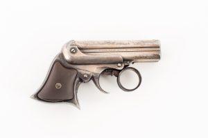 Silver plated Remington Elliot 4 barrel deringer 32 rimfire authentic original antique