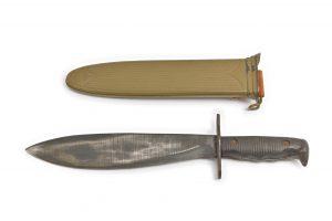 ribbed steel scabbard LF&C walnut belt hook leather hanger WW 1 original